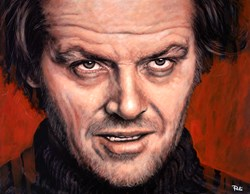 Jack Nicholson - Jack Torrance by Pete Humphreys - Original Painting on Stretched Canvas sized 36x28 inches. Available from Whitewall Galleries